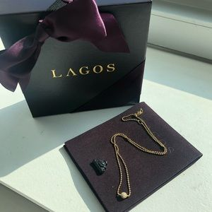 LAGOS Diamond Pendant 18k Gold Necklace